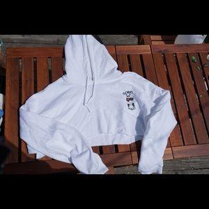 Going solo crop hoodie